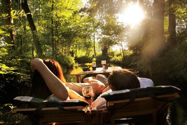 Gleiche Ebene Dusche : Spreewald Pension Spreeaue , Urlaub im Ferienhaus mit Ferienzimmer und